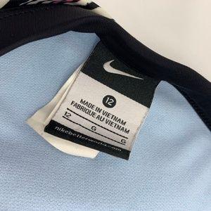 Nike Swim - Nike Pink, Black & White Stripe Tankini Halter Top